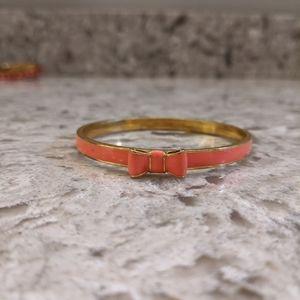 Kate Spade coral bow bracelet